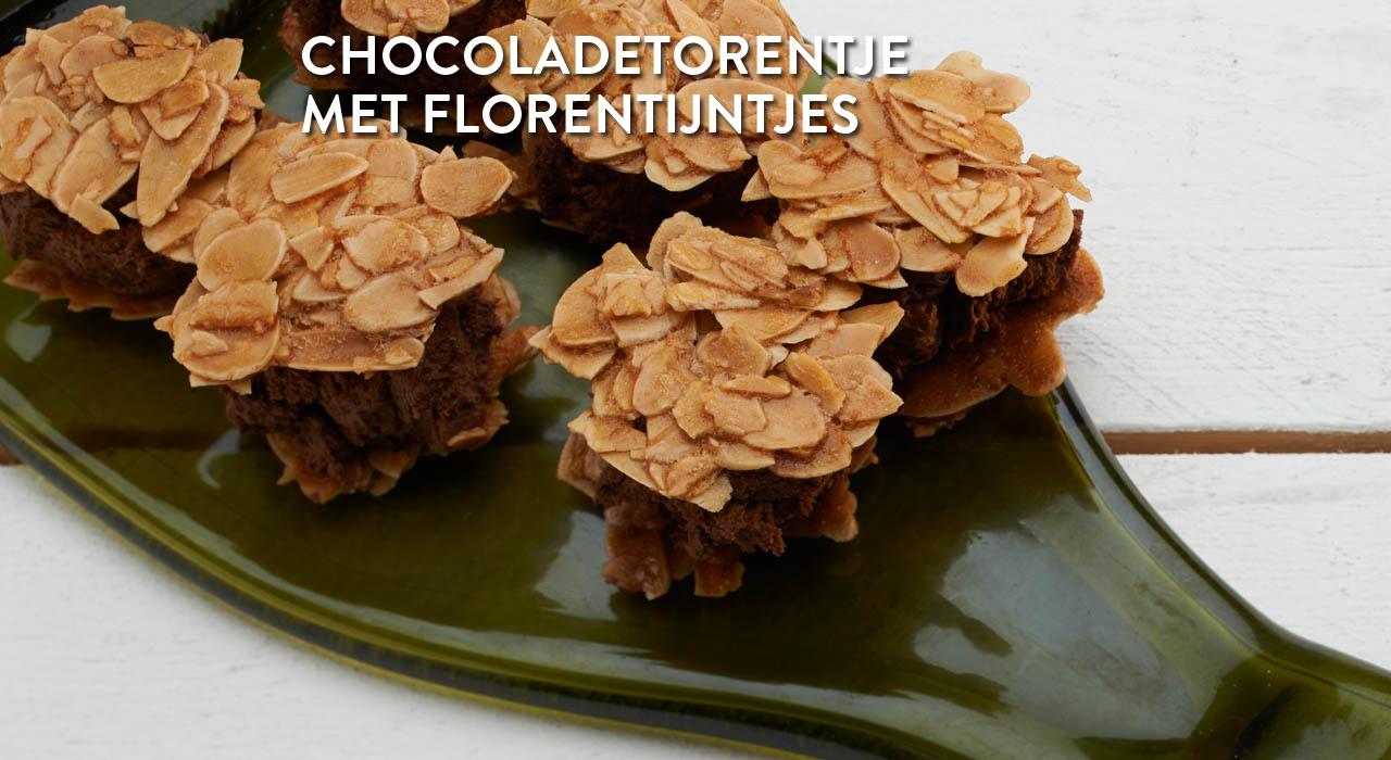 Chocoladetorentje met florentijntjes