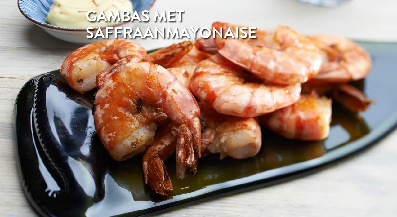 Gamba's met saffraanmayonaise